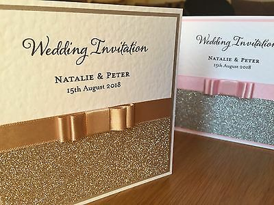 *Simply Elegant* 83 COLOURS wedding day/evening invitation & RSVP card SAMPLE