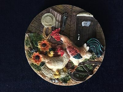 Decorative Rooster 3D Wall Hanging Plate