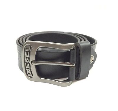 Mens  Black Diesel Leather Belt Suitable For 36 To 38 (3421)