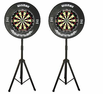 ** 2 X Portable Pro Player Dartboard Stands ** Dart Board Pop Up Caddy **