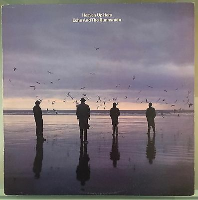 Echo And The Bunnymen - Heaven Up Here Lp + Inner Uk 1St Press Textured 1981