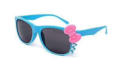 Blue Cat + Bow Style Kids Costume Glasses Perfect for Parties Hipsters Nerd UK