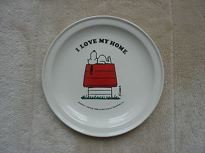 Vintage Snoopy Plate 1958 I Love My Home Carrigaline Pottery