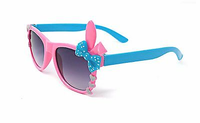 Pink Bunny Bow Style Kids Costume Glasses Perfect for Parties Hipsters Nerd UK