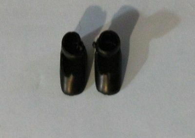 "Tiny Black shoes for vintage or modern 8"" Betsy McCall or Ann Estelle doll"