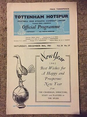 Rare 1961 Programme TOTTENHAM H. v Chelsea Vol 54 No 27 30th December