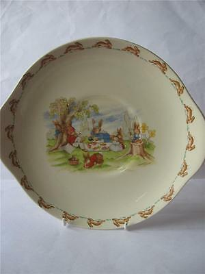 Royal Doulton Bunnykins Bread And Butter Plate - Picnic Style One!