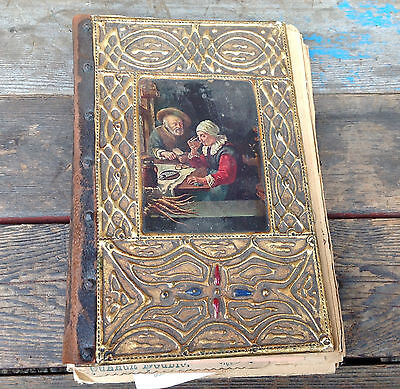 Very Cool Antique Turn of the Century Diary Scrapbook with Documents
