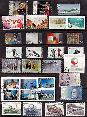 2008 Year Set Of Vfu Sets And Single Issues (14) From Norway Oslo Handstamps.