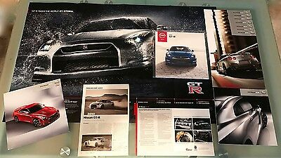 Nissan Gtr Brochure Poster Dealer Sales Card Magazine Collection Rare 10 11 13