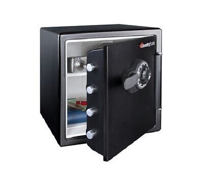 Safe Fire Water Proof Combination Lock Safe Docs Office Home Valuables Media Gun