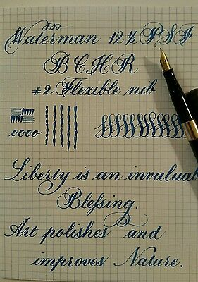 Vintage Waterman 12-1/2 Psf Bchr Fountain Pen Flexible Nib Video Available