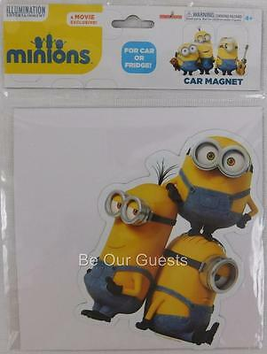 Despicable Me Minion Movie Group of 3 Standing Car Magnet Refrigerator New
