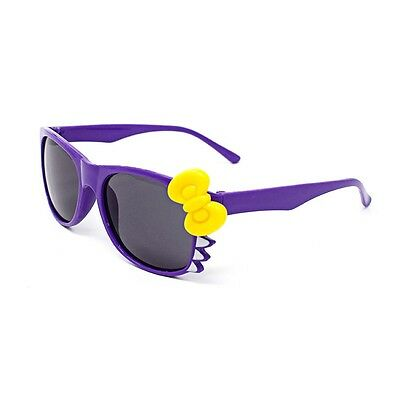 Purple Cat + Bow Style Kids Costume Glasses Perfect for Parties Hipsters Nerd UK