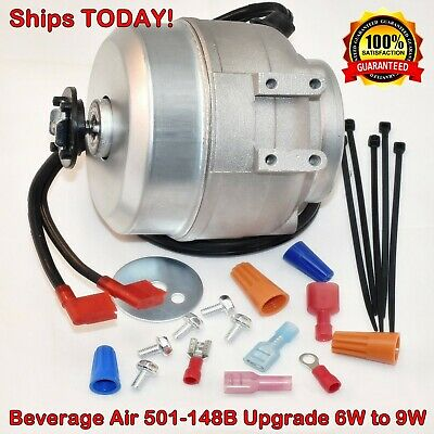 Beverage Air 501-148B 115V 6W 9W UPGRADE Condenser Fan Motor - Ships TODAY!