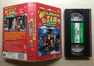 Bbc - Fireman Sam 4 - Snow Business - Vhs Video