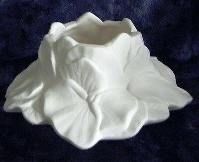 Ceramic Ready to Paint Bisque Pansy Tealight Candle Holder