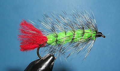 Wooly Worm - Lime Green  - 12 flies - # 6, 8,10