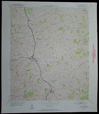 Williamstown Kentucky Dry Ridge vintage 1952 old USGS Topo chart