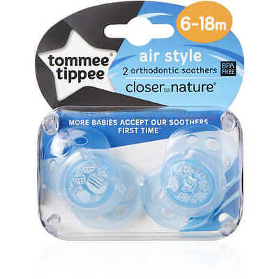 NEW Closer To Nature Air Style 6-18m Silicone Soother - Assorted*