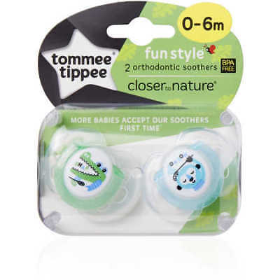 NEW Closer To Nature Fun Style 0-6m Silicone Soother - Assorted*