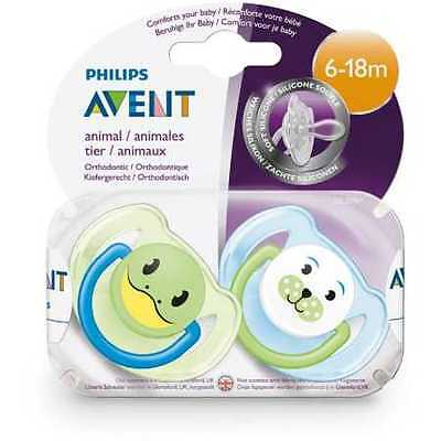 NEW Avent Animal Baby Soother - 6-18 Months
