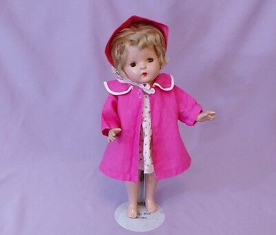 "PRETTY 17"" COMPOSITION SALLY PETITE  DOLL by AMERICAN CHARACTER to DRESS c1930"