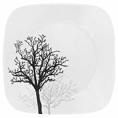 """Corelle Square Timber Shadows 8.75"""" Lunch Plate (Set of 4)"""