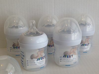 Philips AVENT BPA Free Natural Polypropylene Bottle, 4 Ounce, 5 Count, Brand New