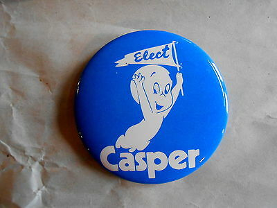 Vintage Elect Casper the Friendly Ghost Cartoon Character Pinback Button