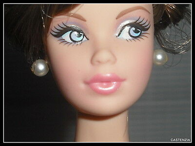 Jewelry Barbie Doll Model Muse Birthstone Beauties Pearl Faux Earrings  Diorama
