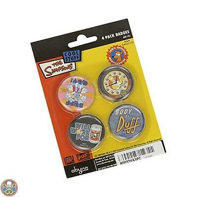 Abystyle The Simpsons Cool Stuff 4 Pack Badges Spille Nuovo