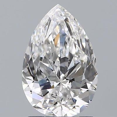 Charles and Colvard Forever One DEF Moissanite 7X5mm Pear Shape With Certificate
