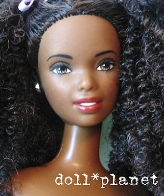 HTF Glam 'n Groom CHRISTIE AA Barbie doll for OOAK or play curly afro ponytails