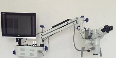Dental Operating Microscope, Wall Mounting, with Camera & LED Screen