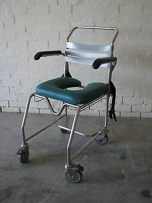 Commode Portable Wheeled Chair - Crescent