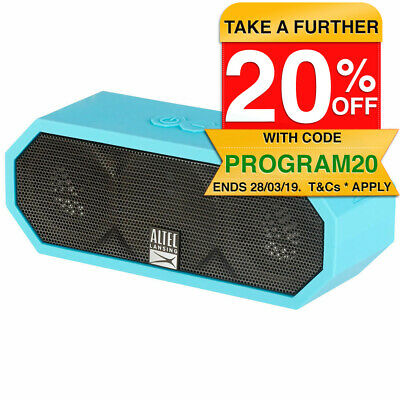 Altec Lansing  Jacket H20 3 Bluetooth AUX Wireless Portable Waterproof Speaker
