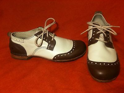 Brown & White Dr. Martens Brogues 6.5