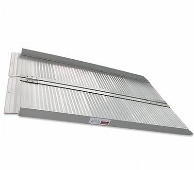 NEW Portable 4 FT Loading Folding Aluminium Ramp for Wheelchair - Indoor/Outdoor