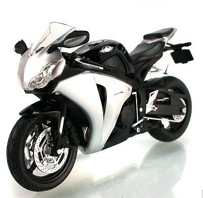 1:12 Honda CBR1000RR Motorcycle Bike Model Toy Silver Black
