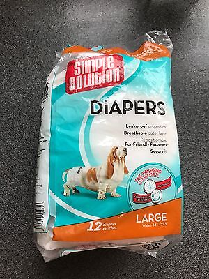 Simple Solution Dog Diapers Large Pack Of 8