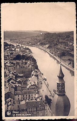 Old 1940s postcard Dinant La Meuse en Amont published by Ern. Thill Bruxelles