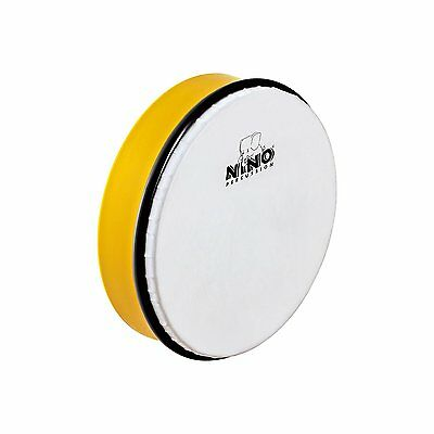 "Nino Percussion Yellow 8"" ABS Plastic Hand Drum with Synthetic Head - NINO45Y"