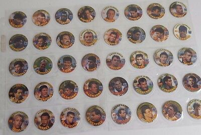 FULL SET OF NSW RUGBY LEAGUE POG TAZOS issued in 1994 - Coca Cola backs