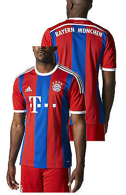 Bayern Munchen Adidas Football Jersey Shirt Red Blue Home Short Sleeves 2014 1