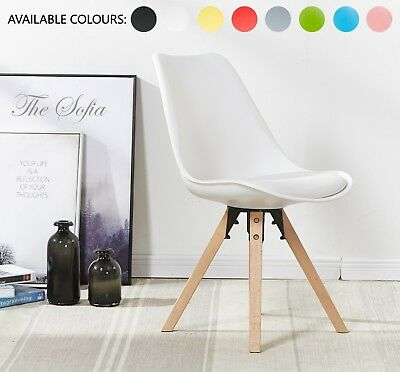 Piramide Dining Chair, Eiffel Inspired, Solid Wood ABS Plastic, Padded Seat