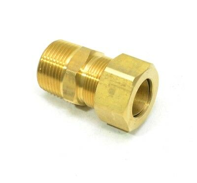 "3/4"" Tube OD Compression Flare to 3/4"" Male NPT Fitting Adapter Connector"