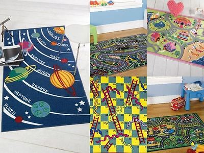 Matrix Kiddy Planets Girls World Happy Town Snakes & Ladders Rug Range