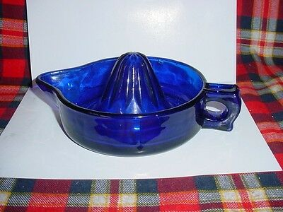 "Cobalt Blue Glass 8"" Juicer Reamer"