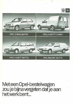 Opel Van Range Brochure (Dutch)